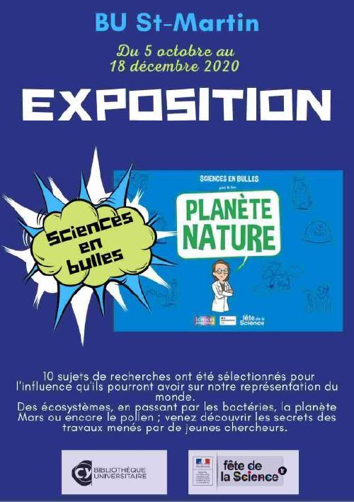 Affiche de l'exposition Sciences en bulles